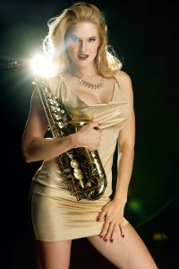 Saxophon Karnevalshow von Leony la Roc.